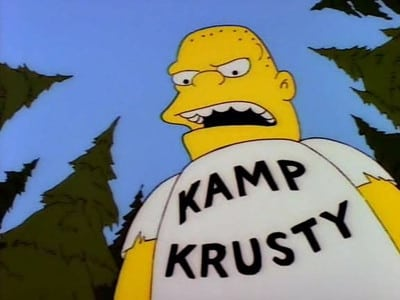 Die Simpsons Season 4 :Episode 1  Krise im Kamp Krusty