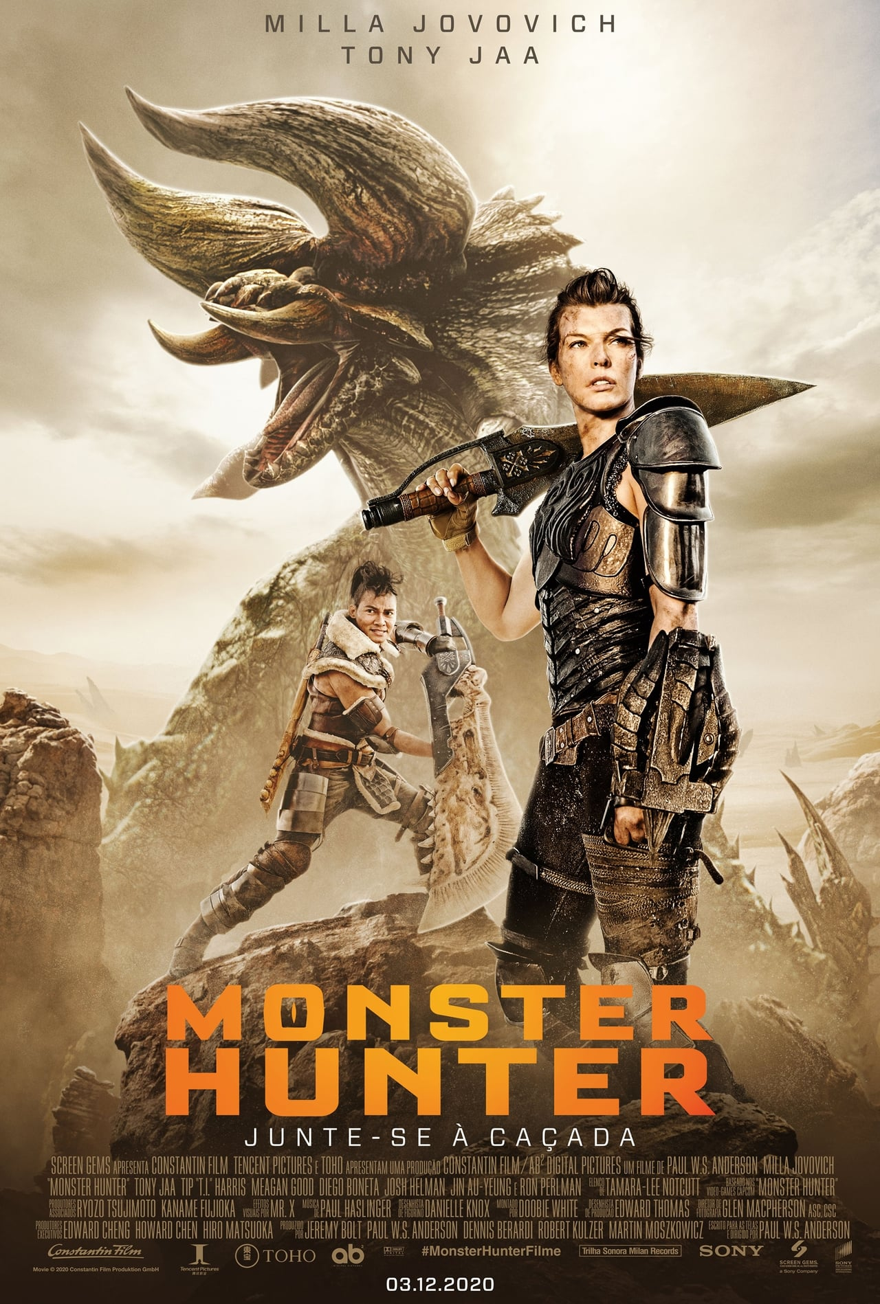 Monster Hunter (2020) 720p HDCAM Dual Audio [Unofficial Dubbed] Hindi-English x264 AAC