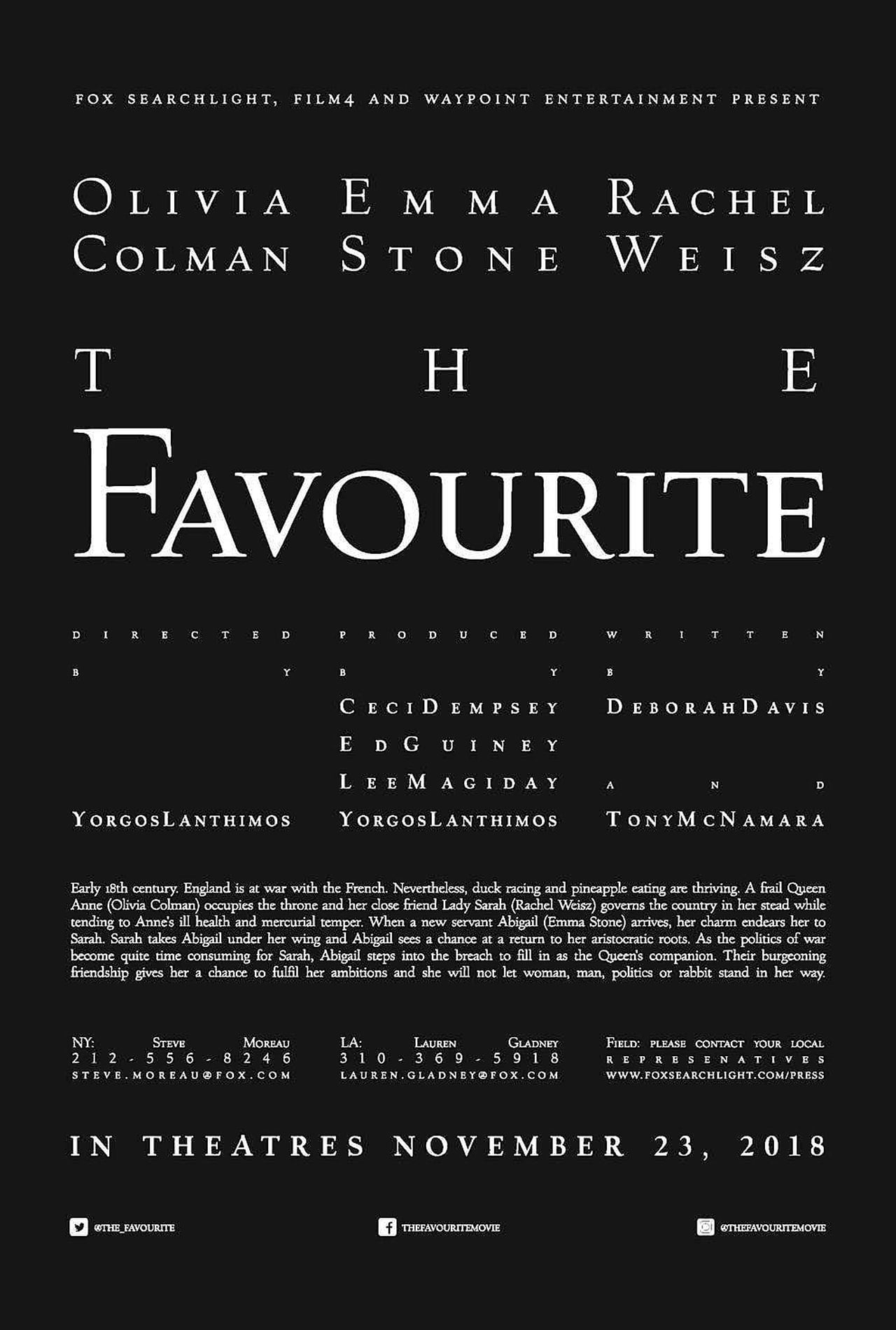 The Favourite Subtitles | 126 Available subtitles