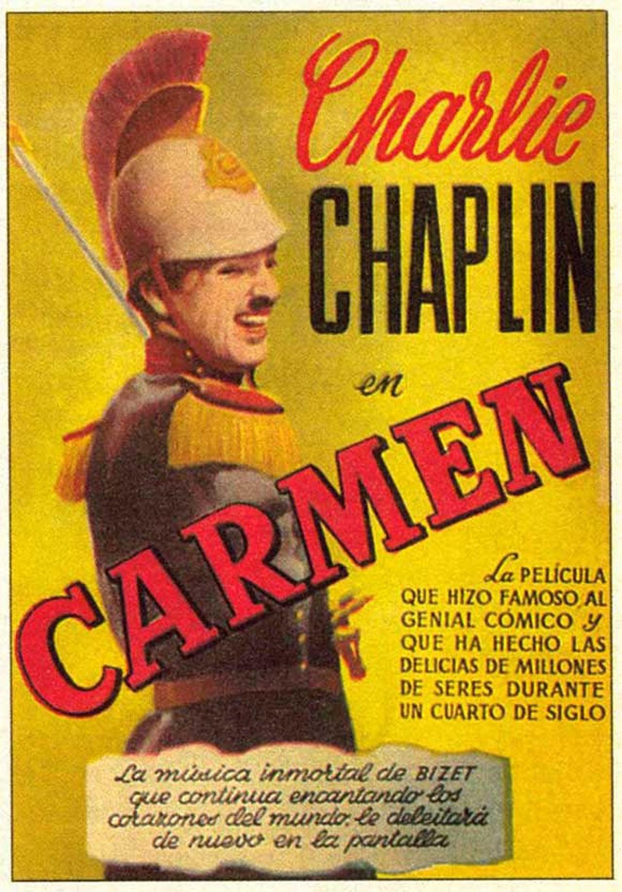 """Resultado de imagen de """"Carmen""""   1915 de Charles Chaplin"""