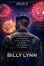 Die irre Heldentour des Billy Lynn: Im Alter von nur 19 Jahren findet sich Billy Lynn (Joe Alwyn) als Soldat im Irakkrieg wieder, wo der Tod an jeder Ecke nur darauf wartet, ein neues Opfer zu fordern. Nach einem schrecklichen Feuergefecht werden Billy und seine Kameraden jedoch als Helden der Nation gefeiert und, zurück in den USA, auf eine landesweite Sieges-Tournee geschickt. Die Amerikaner feiern Billys Einheit euphorisch – dabei könnte die pompöse Inszenierung der Tour nicht weiter von der grausamen Realität des Krieges entfernt sein, die auch Billys pazifistische Schwester Kathryn (Kristen Stewart) scharf verurteilt. Doch was genau ist im Irak geschehen? Und sind Billy und seine Mitstreiter wirklich die Helden, zu denen sie in der Öffentlichkeit gemacht werden? Nach und nach werden immer neue Erkenntnisse über die Geschehnisse am Golf enthüllt. Während der aufsehenerregenden Halbzeit-Show bei einem Football-Spiel kommt dann die ganze Wahrheit ans Licht...