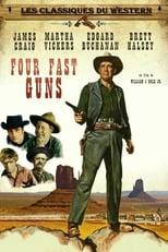 Four Fast Guns (1960) Box Art