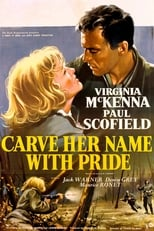 Official movie poster for Carve Her Name with Pride (1958)