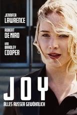 Joy - Alles ausser gewöhnlich: Der Film ist die aufregende Geschichte von Joy, die ein Geschäftsimperium aufbaut und als Matriarchin leitet. In dieser intensiven, hochemotionalen und vor allem sehr menschlichen Komödie zeichnen Verrat, Vertrauensmissbrauch, der Verlust von Unschuld und verletzte Liebe Joys Lebensweg zum wahren Familienoberhaupt und zur Chefin ihres Unternehmens, mit dem sie sich in einer gnadenlosen Geschäftswelt erfolgreich behauptet. Während Joys innere Stärke und wilde Vorstellungskraft sie durch schwere Zeiten tragen, werden Verbündete zu Kontrahenten und Gegner zu Verbündeten – sowohl innerhalb als auch außerhalb der Familie.
