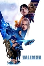 Official movie poster for Valerian and the City of a Thousand Planets (2017)