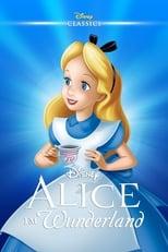 Alice im Wunderland: Alice läuft dem Weißen Kaninchen hinterher und fällt in den Kaninchenbau. Mit zwei Pillen, eine macht größer, die andere kleiner, gelangt sie ins Wunderland. Dort trifft Alice auf kuriose und groteske Wesen wie die Wasserpfeife rauchende Raupe, die Zwillinge Diedeldum und Diedeldei, die grinsende Tigerkatze und die