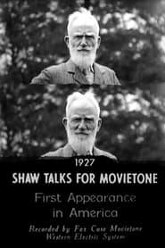 Shaw Talks for Movietone News 1928
