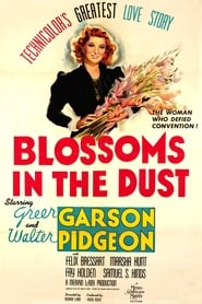 Poster Blossoms in the Dust 1941