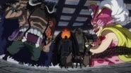 One Piece Season 21 Episode 952 : Tension in Onigashima! Sudden Encounter ?! The Yonkous Duo.