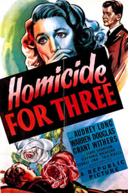 Poster Homicide for Three 1948