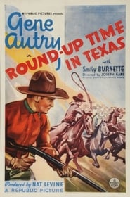 Poster Round-Up Time in Texas 1937