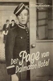Der Page vom Dalmasse-Hotel 1933