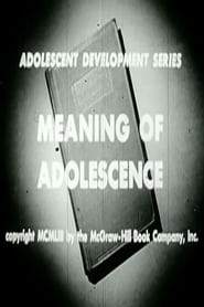 Meaning Of Adolescence 1953