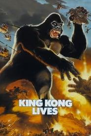 Poster King Kong Lives 1986