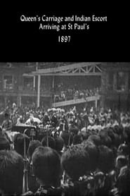 Queen's Carriage and Indian Escort Arriving at St. Paul's 1897