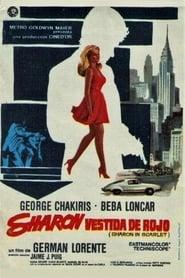 Sharon vestida de rojo 1969
