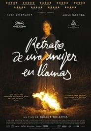 Retrato de una mujer en llamas en gnula