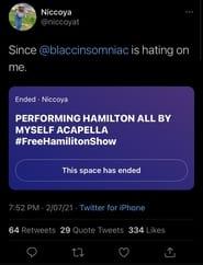 Hamilton: The Spaces Performance (2021)