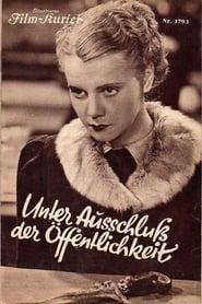 Unter Ausschluß der Öffentlichkeit 1937