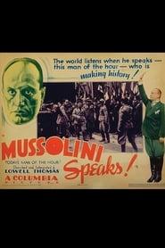 Mussolini Speaks 1933