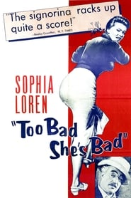 Poster Too Bad She's Bad 1955