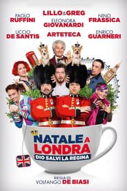 Poster Natale a Londra - Dio salvi la Regina 2016