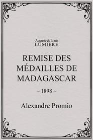 Remise des médailles de Madagascar 1898