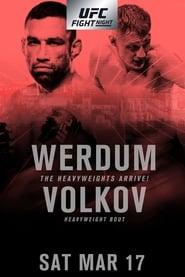 Poster UFC Fight Night 127: Werdum vs. Volkov 2018