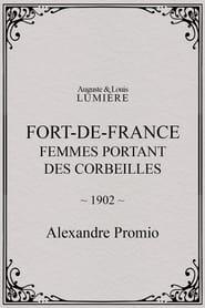 Fort-de-France : femmes portant des corbeilles 1902