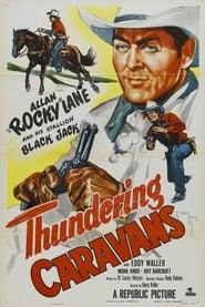 Poster Thundering Caravans 1952