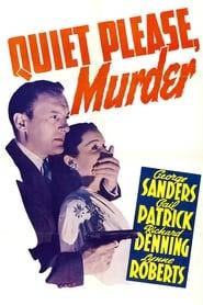 Poster Quiet Please, Murder 1943