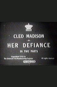 Poster Her Defiance 1916