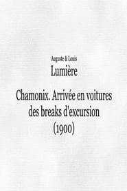 Chamonix : Arrivée en voitures des breaks d'excursion 1901