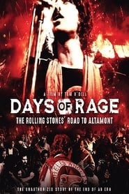 Poster for Days of Rage: the Rolling Stones' Road to Altamont (2020)