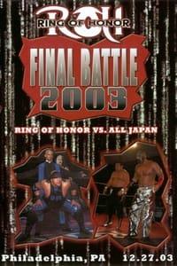 ROH Final Battle 2003