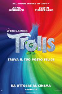 copertina film Trolls 2016