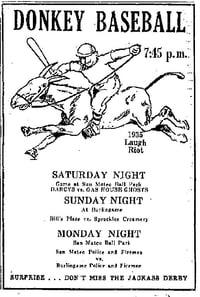 Donkey Baseball