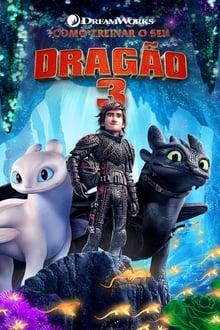 Como Treinar o seu Dragão 3 poster, capa, cartaz