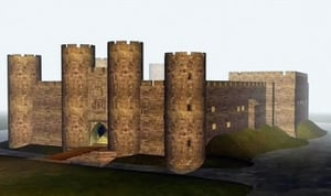 Codnor Castle, Derbyshire - Gold In The Moat