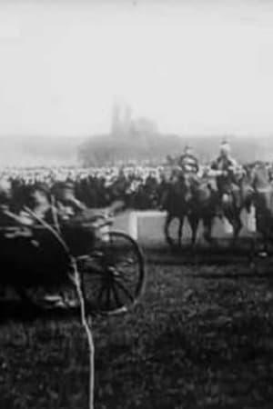 Image Revue à Longchamp: charge finale et départ de M. le Président