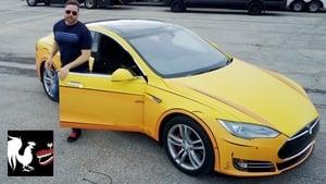 Burnie's Vlog with a Cartoon Tesla