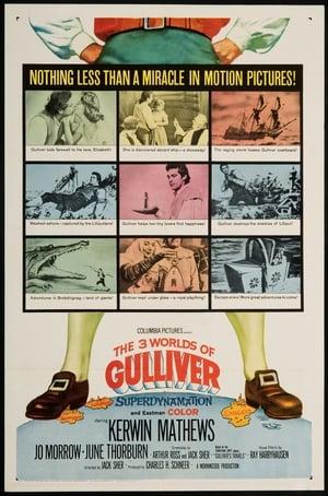 Capa do filme Os Três Mundos de Gulliver