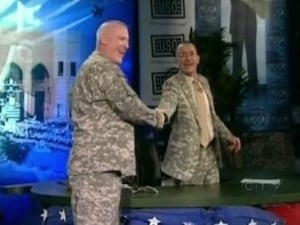 Stephen broadcasts from Iraq, Command Sgt. Major Frank Grippe