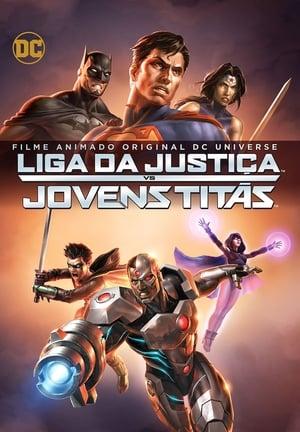 Liga da Justiça vs. Jovens Titãs - Poster
