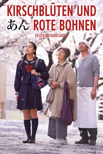 Filmplakat von Kirschblüten und rote Bohnen