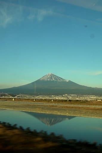Le Mont Fuji vu d'un train en marche