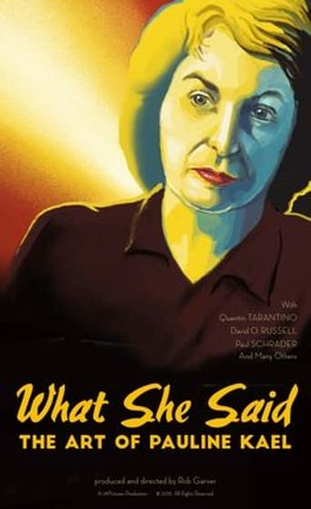 Poster of What She Said: The Art of Pauline Kael