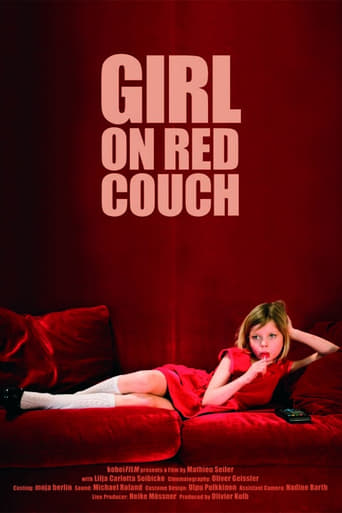 Girl on Red Couch
