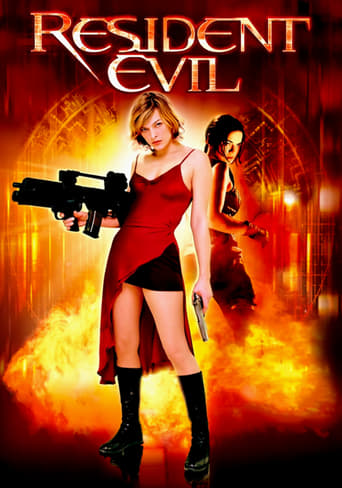 Official movie poster for Resident Evil (2002)