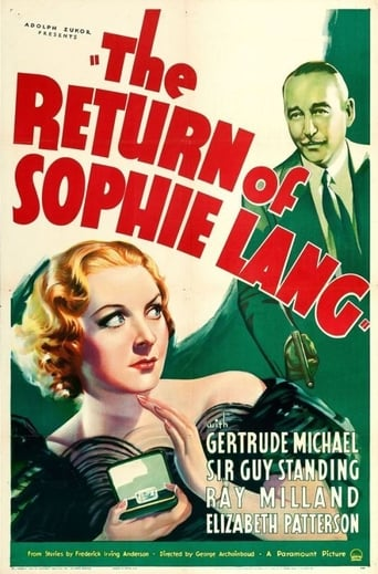 Poster of The Return of Sophie Lang
